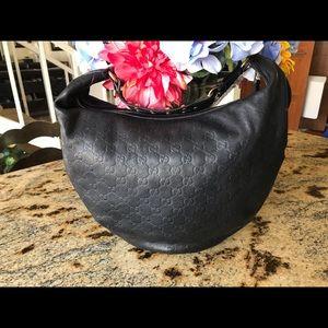 Authentic GUCCI GUCCISSIMA BIBA leather hobo bag